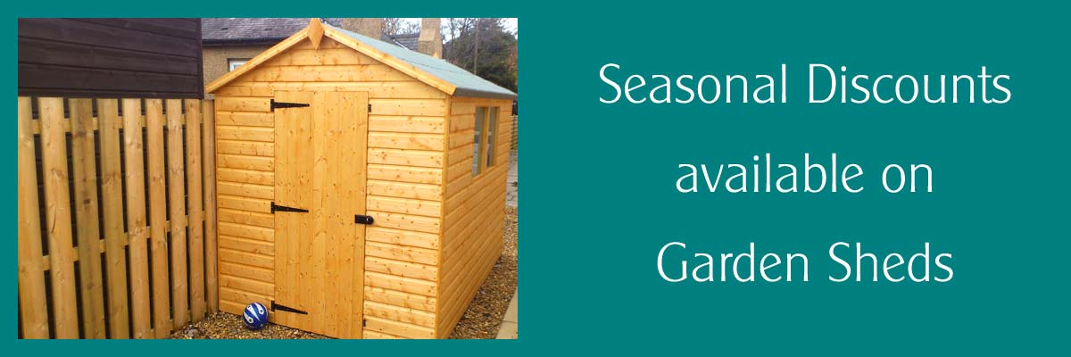 seasonal discounts on garden sheds - Garden Sheds Edinburgh