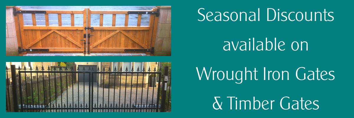 Seasonal discounts on Wrought Iron & Timber Gates