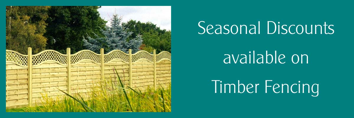 Seasonal discounts on Timber Fencing